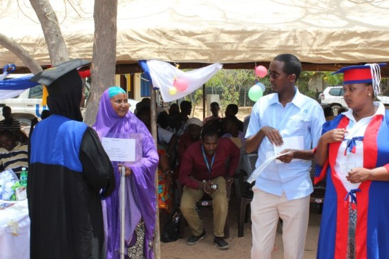 Kusey Mohamed Mohamud at awarding ceremony