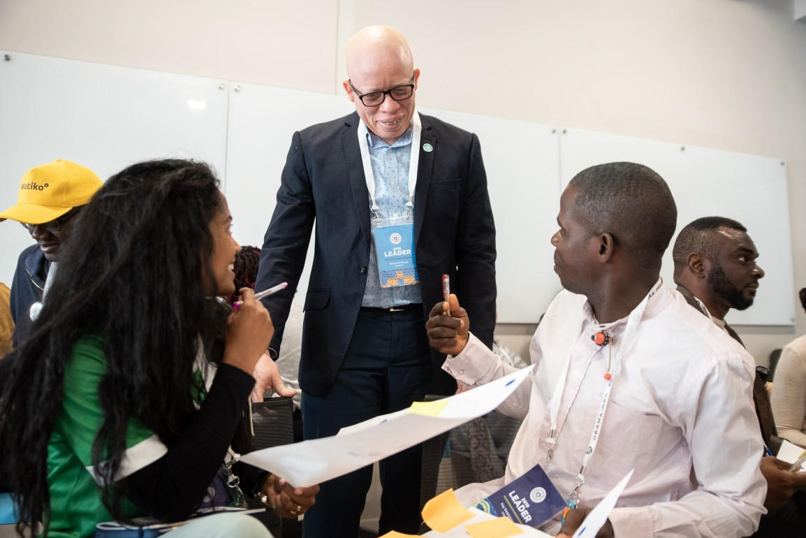 Gamariel mentoring Obama Foundation Fellows in South Africa, June 2019